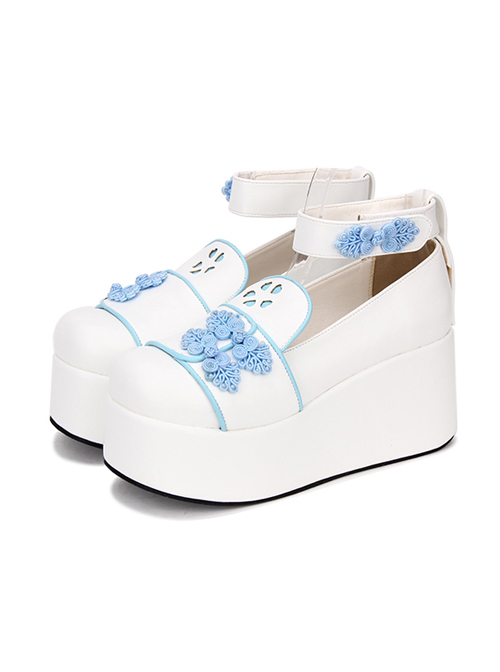 Chinese Style Cheongsam Buckle Decoration Classic Lolita Thick Base Shoes