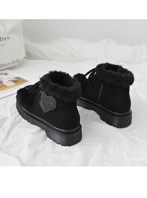 Black Or Brown Suede Sweet Lolita Short Martin Boots