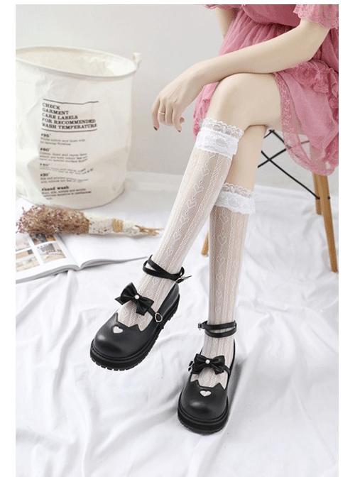 Round-toe Cute Cat Ears Bowknot Sweet Lolita Shoes