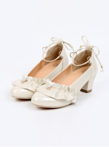 Luminous Pearl Series Ruffle Bowknot Lolita Multicolor High Heels Shoes