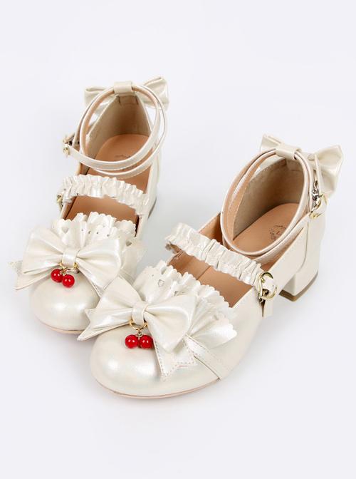 Jam Girl Series Red Bead Pendant Sweet Lolita High Heels Shoes