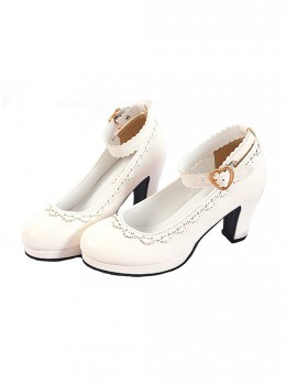 Pure White Or Black Round-Toe Elegant Classic Lolita Shoes