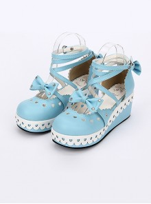 Round-toe Sweet Bowknot Lace Sweet Lolita Shoes