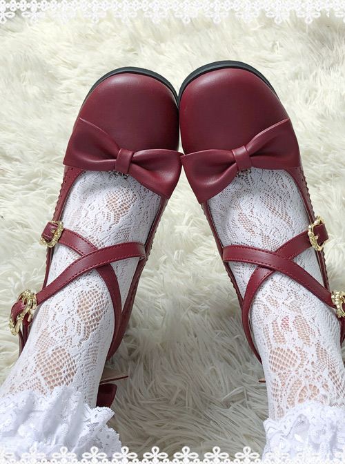 Nocturne Series Round-toe Shallow-mouthed Elegant Classic Lolita Low Heel Shoes