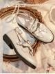 Retro Cute Bowknot Sweet Lolita Low Heel Shoes
