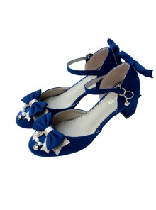 Suede Fabric Elegant Bowknot Classic Lolita High Heel Shoes
