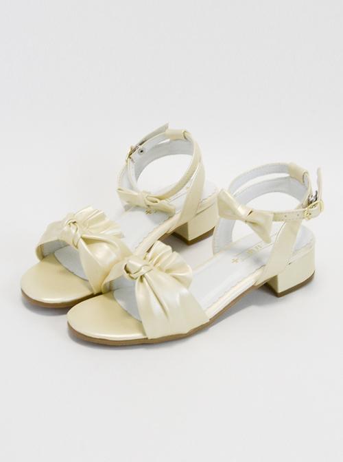 Elegant Lovely Bowknot Classic Lolita Low-heel Sandals