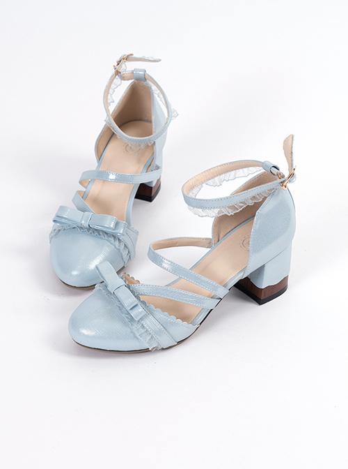 Lace Round-toe Thick Heel Elegant Classic Lolita High Heel Shoes