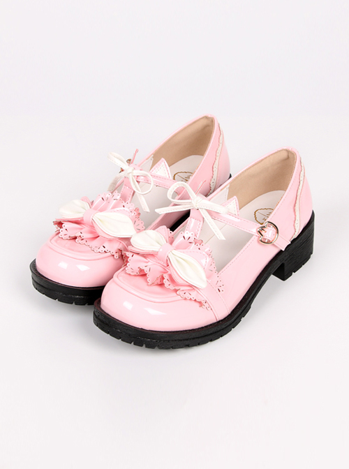 The Baby Cat Series Sweet Lolita Middle Heel Shoes