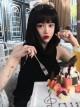 Natural Black Bob Haircut Lolita Wig