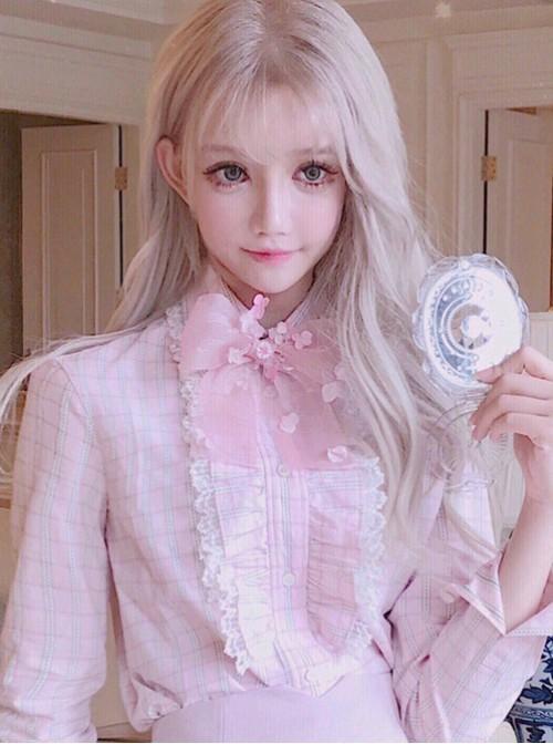 Fashion Lolita Pale Gold Long Curly Wig