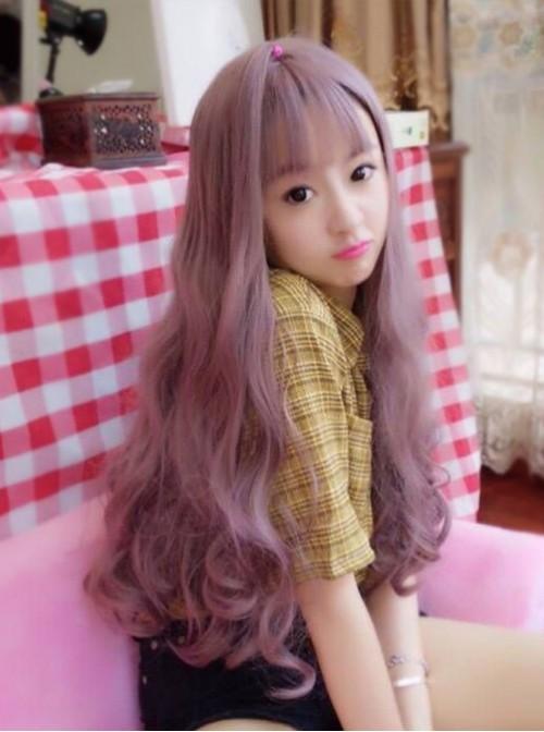 Fluffy Large Wave Taro Purple Long Curly Hair Lolita Wig