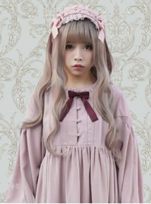 Lovely Large Wave Granny grey Long Curly Hair Lolita Wig