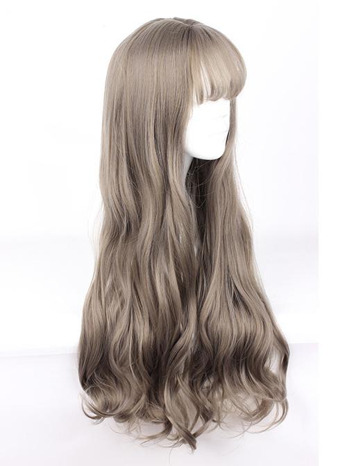 Harajuku Style Big Waves Long Hair Lolita Aoki Flax Grey Wig