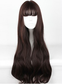 Harajuku Style Big Waves Long Hair Lolita Chocolate Color Wig