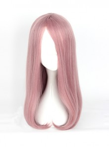 Harajuku Style Inner Buckle Smoke Pink Long Hair Cosplay Lolita Wig