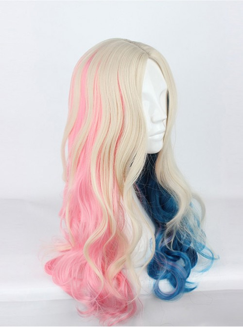 Suicide Squad Harleen Quinzel Loosely Long Curly Hair Cosplay Wig