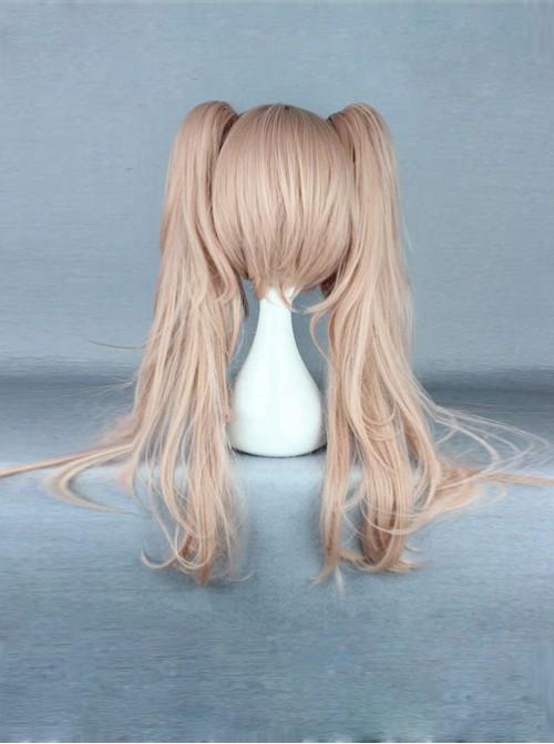 Dual Horsetail Light Brown Cosplay Lolita Wig