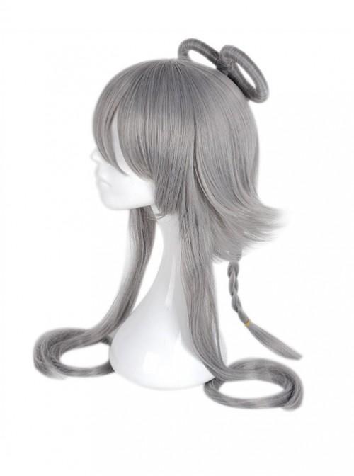 Luo Tian Yi Gray Cosplay Lolita Combined Wig