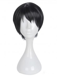 Short Black Hair Handsome Cosplay Lolita Wig