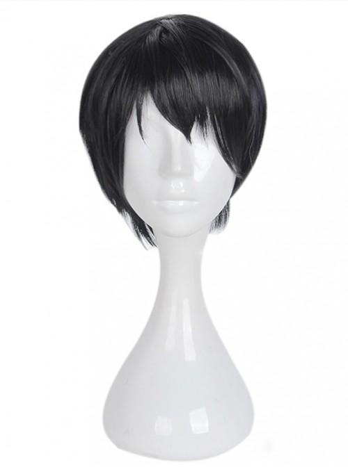 Short Black Hair Handsome Cosplay Lolita Wig