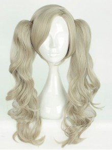 Long Gray Curly Dual Horsetail Cosplay Lolita Wig