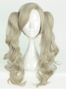 Long Gray Curly Dual Horsetail Cosplay Lolita Wig