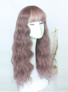 Cute Air-bangs Long Corn Perm Lolita Wig