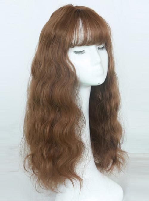 Cute Air-bangs Long Corn Perm Lolita Wig