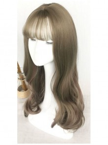 Air-bangs Large Wavy Long Curly Hair Lolita Wig