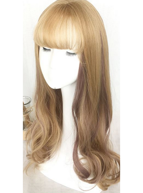 Air-bangs Large Wavy Long Curly Hair Lolita Wig