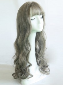 Large Wavy Air-bangs Long Curly Hair Lolita Wig