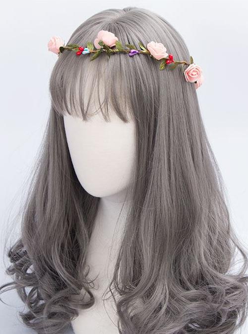 Harajuku Style Gray Long Curled Hair Lolita Wig
