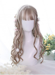 Milk Tea Color Long Curly Hair Classic Lolita Wig