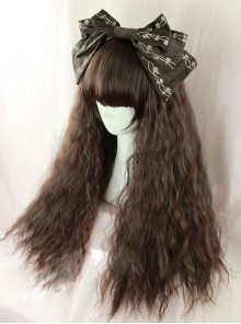 Dark Brown Fluffy Corn Perm Lolita Wig
