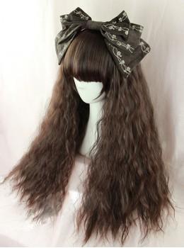 Dark Brown Fluffy Corn Perm Lolita Wig