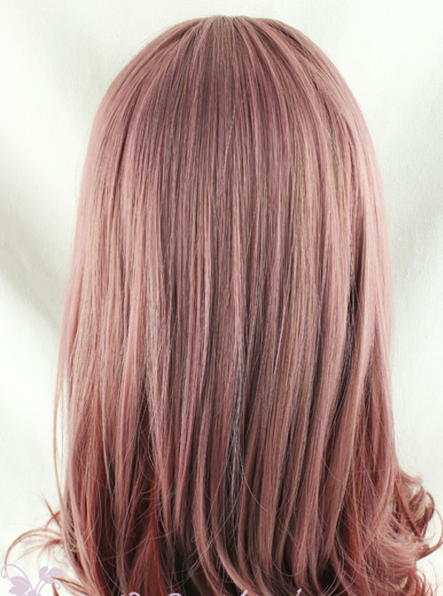 Taro Purple Gradual Change Long Curly Hair Lolita Wig