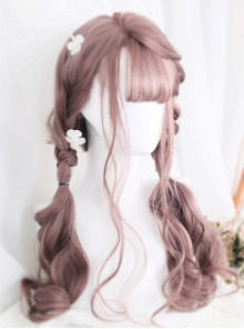 Doris Series Air-bangs Long Curly Hair Lolita Wig