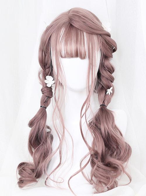 Doris Series Air-bangs Long Curly Hair Lolita Wig