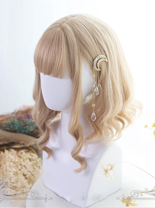 Light Gold Short Rome Curly Lolita Wig