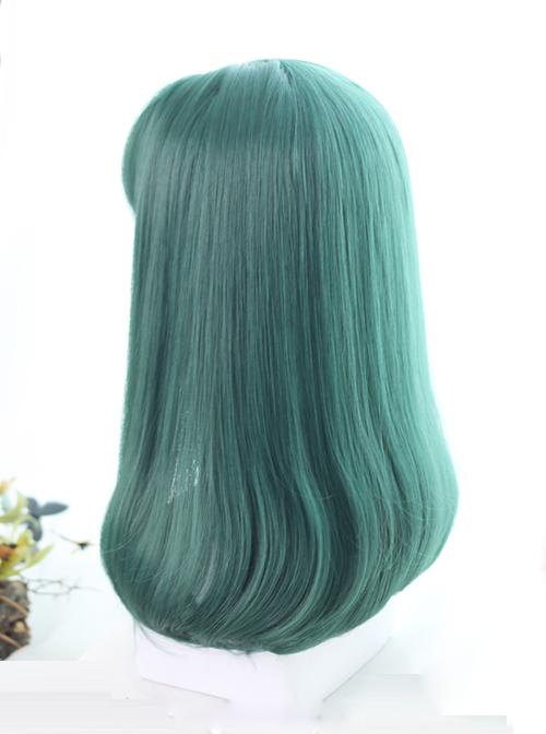 Dark Green Inner Buckle Long Hair Lolita Wig