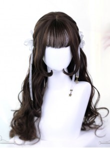 Hime Cut Inner Buckle Long Curly Hair Lolita Wig
