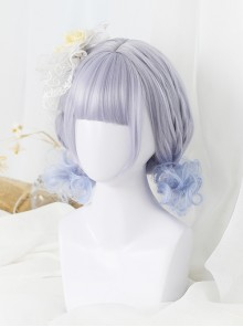 Gray-blue Short Rome Curly Hair Lolita Wig