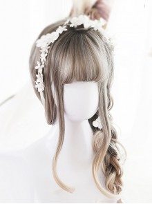 Linen Gray Gradual Change Long Curly Lolita Wig