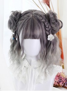 Harajuku Style Gradual Change Water Wave Curly Lolita Short Wig