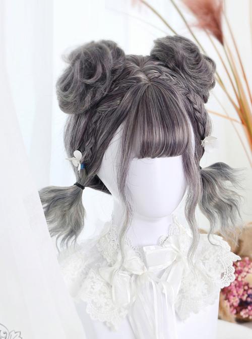 Harajuku Style Gradual Change Water Wave Curly Lolita Short Wig