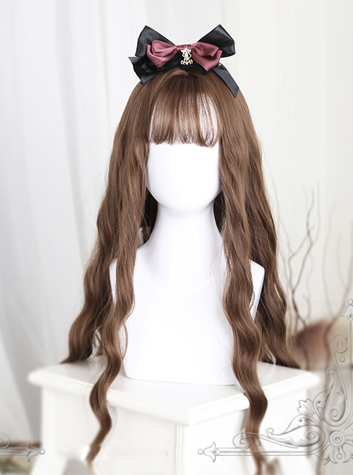 Light Brown Water Wave Curly Lolita Long Wig
