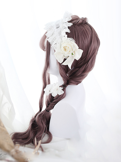 Pink Water Wave Long Curly Lolita Wig