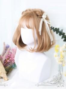 Inner Buckle Short Curly Hair Lolita Wig