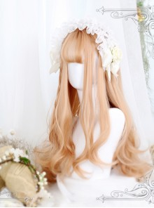 Gentle Coral Tea Big Wavy Hair Lolita Wig